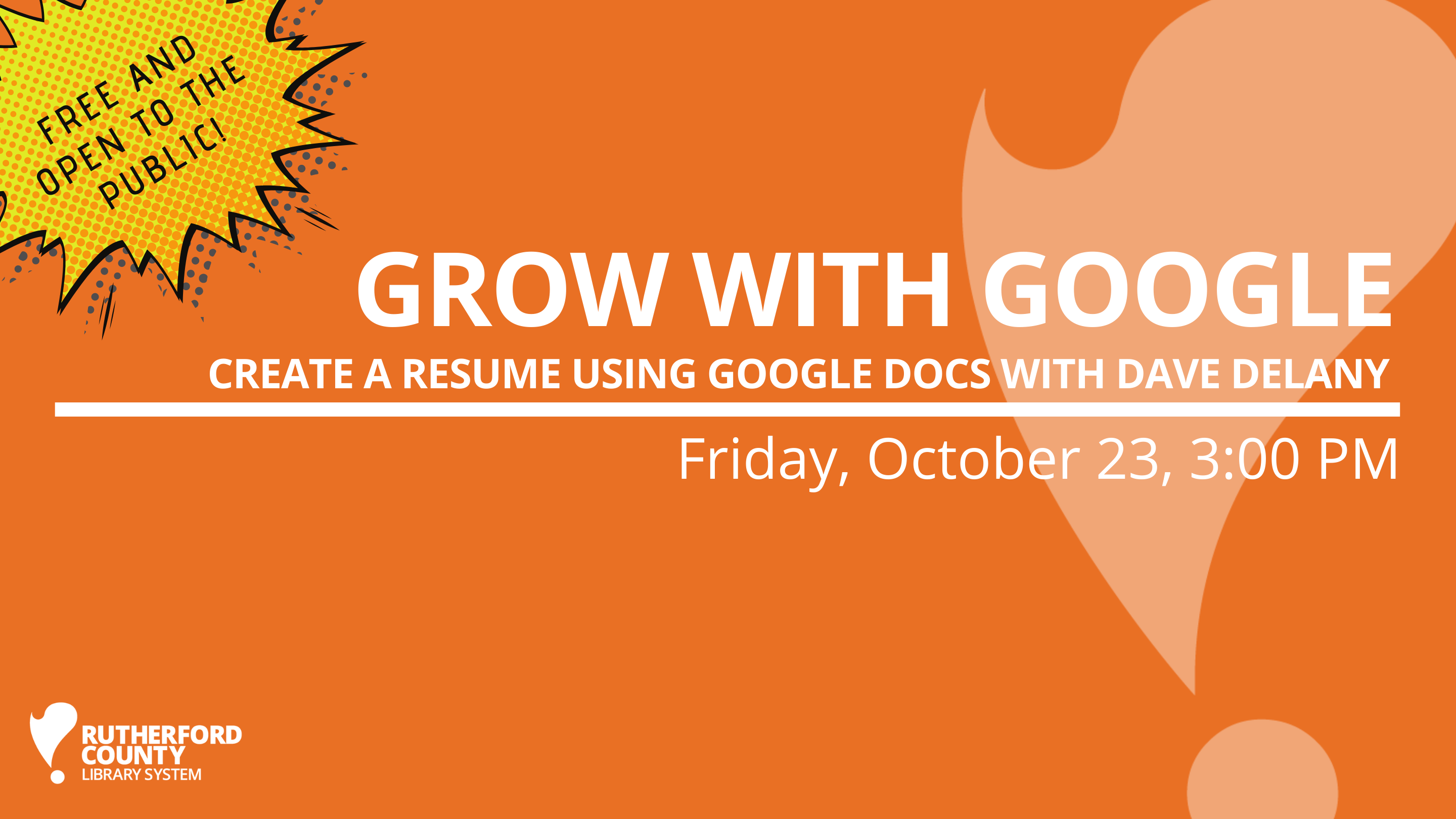 Grow with Google: Create a Resume Using Google Docs