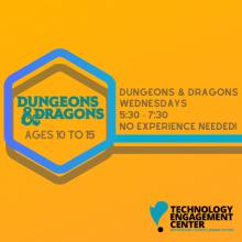 Teens event, D&D weekly meeting